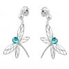 Cercei Libelule - Cristale Swarovski Blue Zircon Shimmer