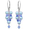 Cercei Sapphire Blue - Perle & Cristale Swarovski