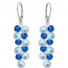 Cercei Blue Vaisa - Perle & Cristale Swarovski