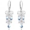 Cercei Aria Light Blue - Perle & Cristale Swarovski