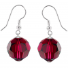Cercei Ruby Red - Cristale Swarovski