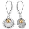 Cercei SeaShells -  Perle Swarovski Vintage Gold