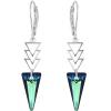 Cercei Spiky - Cristale Swarovski Bermuda Blue