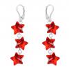 Cercei Red Stars - Cristale Swarovski