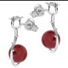 Cercei Trandafiri -  Perle Swarovski Rosu Coral