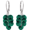 Cercei Cristale Swarovski Emerald