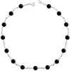 Colier Black Basic - Cristale & Perle Swarovski