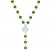 Colier Trifoi Fern Green - Cristale Swarovski