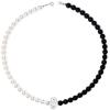 Colier Black & White - Perle Swarovski