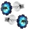 Cercei Bermuda Blue Jellyfish - Cristale Swarovski Designer Edition Céline Cousteau