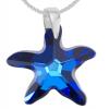 Pandantiv Stea de Mare Bermuda Blue - Cristal Swarovski