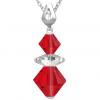 Pandantiv Loren - Cristale Swarovski Xilion Light Siam