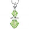 Pandantiv Loren - Cristale Swarovski Xilion Peridot