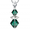 Pandantiv Loren - Cristale Swarovski Xilion Emerald