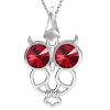 Pandantiv Bufnita - Cristale Swarovski Scarlet