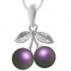 Pandantiv Cirese Iridescent Purple - Perle Swarovski