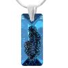 Pandantiv Growing Bermuda Blue - Cristal Swarovski - Designer Edition IRIS VAN HERPEN