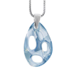 Pandantiv Radiolarian Blue Shade - Cristal Swarovski Designer Edition Céline Cousteau
