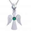 Pandantiv Ingeras - Cristal Swarovski Verde Smarald