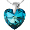 Pandantiv Bermuda Blue - Inimioara Cristal Swarovski