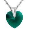 Pandantiv Inimioara - Cristal Swarovski Emerald