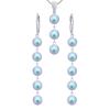 Set Iridescent Blue - Perle Swarovski