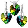 Set Bijuterii - Vitrail Medium - Inimioare Cristale Swarovski