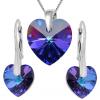 Set Inimioare Heliotrope - Cristale Swarovski