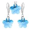 Set Flori Aquamarine - Cristale Swarovski