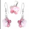 Set Pink Flowers - Cristale Swarovski