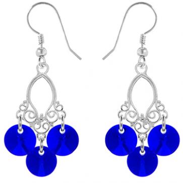 Cercei Mini Chandelier - Cristale Swarovski Majestic Blue