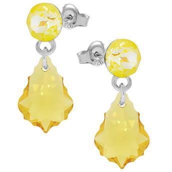 Cercei Sunshine - Cristale Swarovski