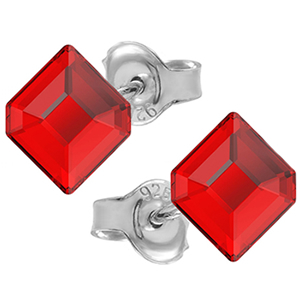 Cercei Hexagon - Cristale Swarovski Light Siam