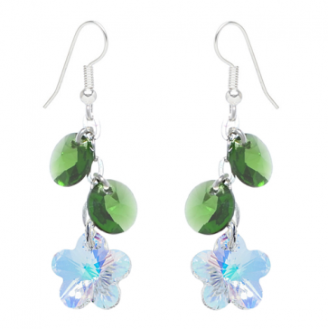 cercei cristale swarovski floricele