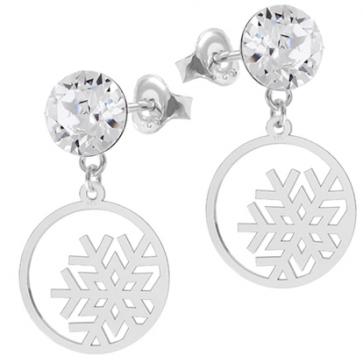 Cercei Fulgi de Nea - Cristale Swarovski Crystal F