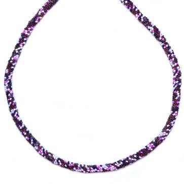 Colier Purple Mix - Sticla Boemia