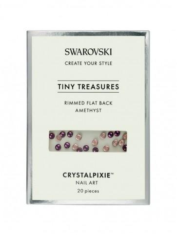 Cristale Swarovski - Crystal Pixie Tiny Treasures Rimmed Flat Back Amethyst