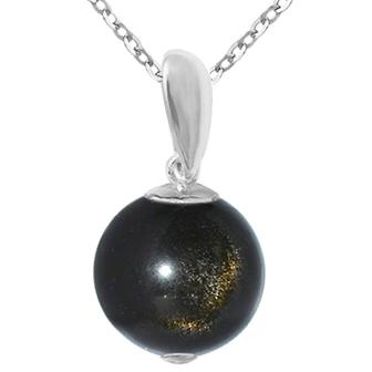 Pandantiv Obsidian Auriu