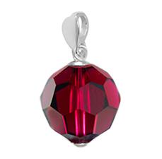 Pandantiv Red Ruby - Cristal Swarovski