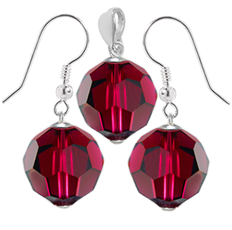Set Ruby Red - Cristale Swarovski