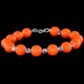 Bratara Orange - Perle & Cristale Swarovski