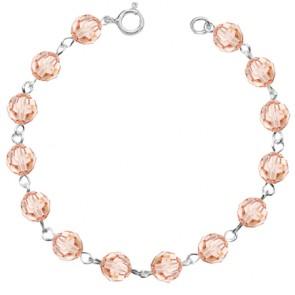 Bratara Light Peach - Cristale Swarovski