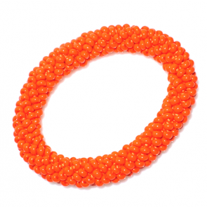 Bratara Sticla Boemia - Orange Neon