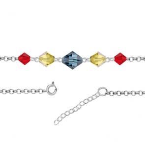 Bratara Tricolor - Cristale Swarovski