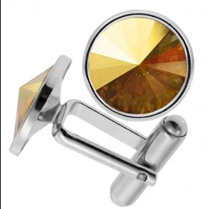 Butoni Cristale Swarovski Metallic Sunshine