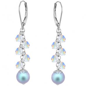 Cercei Light Blue - Perle & Cristale Swarovski