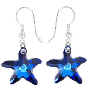 Cercei Stele de Mare Bermuda Blue - Cristale Swarovski