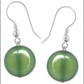 Cercei Jaya - Agat Verde-Olive