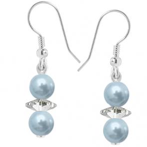 Cercei Erina - Light Blue - Perle & Cristale Swarovski