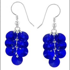 Cercei Majestic Blue - Cristale Swarovski
